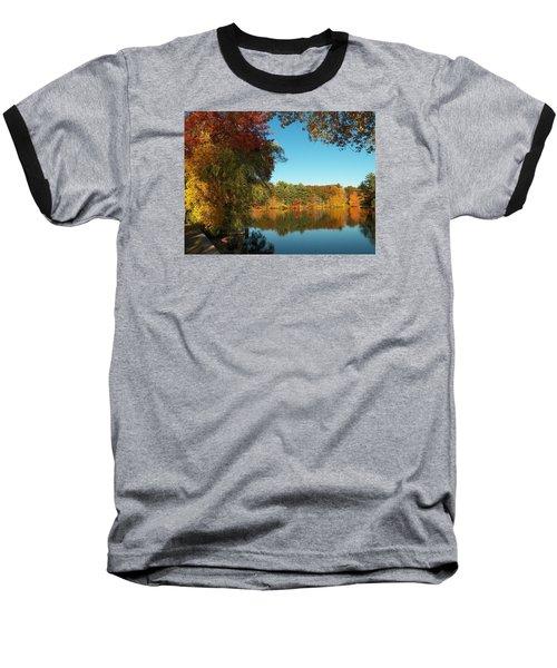 Fall At Johnson Pond Baseball T-Shirt