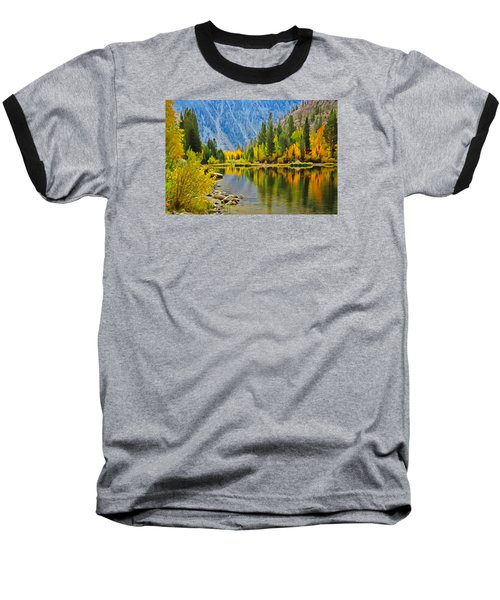 Fall At North Lake Baseball T-Shirt