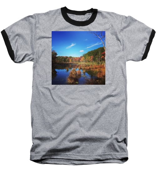 Fall At The Pond Baseball T-Shirt by Jason Nicholas