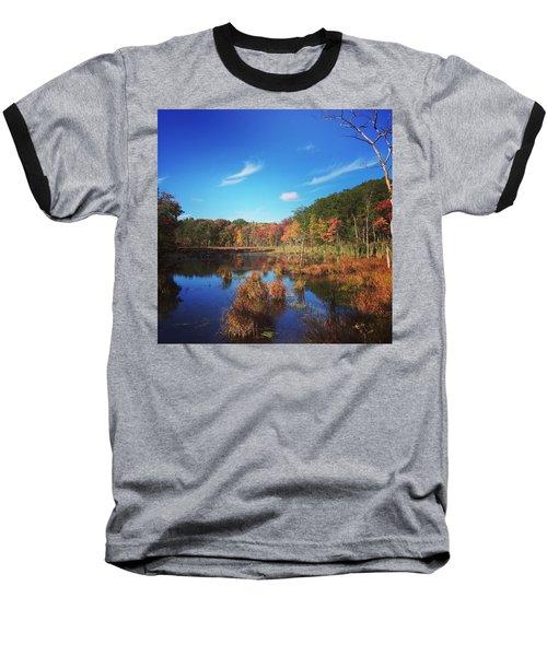 Fall At The Pond Baseball T-Shirt