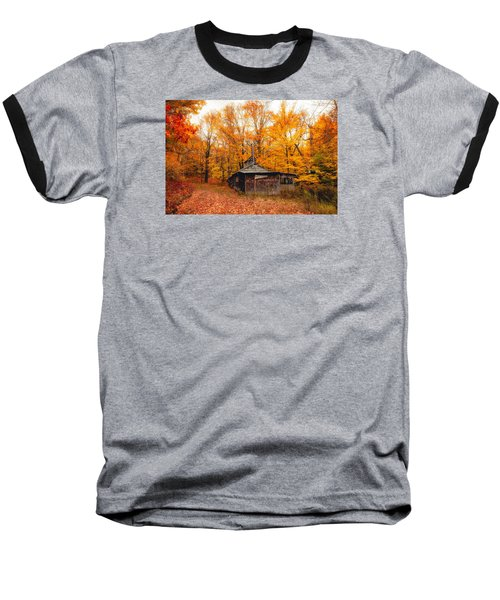 Fall At The Sugar House Baseball T-Shirt