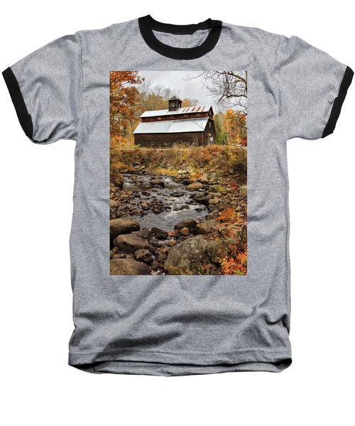 Fall Barn  Baseball T-Shirt