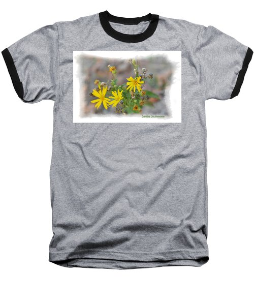 Baseball T-Shirt featuring the photograph Fall Bloom In Texas I by Carolina Liechtenstein