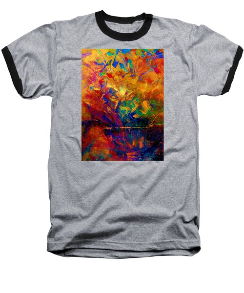 Baseball T-Shirt featuring the painting Fall Bouquet  by Lisa Kaiser