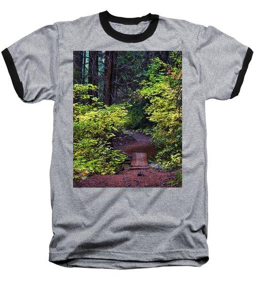 Metolius River Trail Fall Bridge Baseball T-Shirt