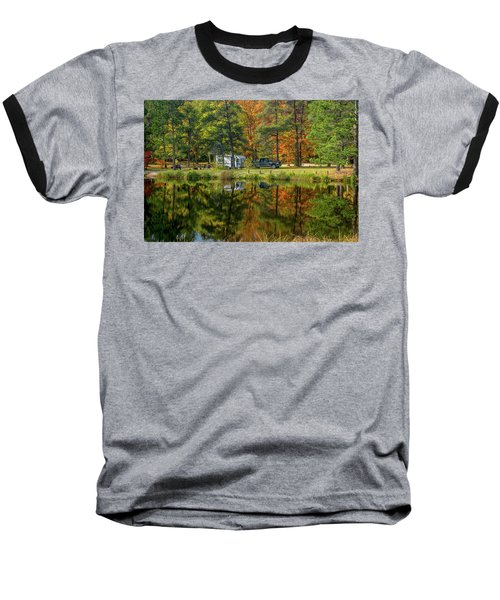 Fall Camping Baseball T-Shirt