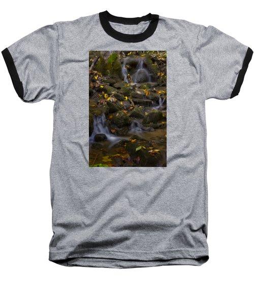 Baseball T-Shirt featuring the photograph Fall Cascades by Ellen Heaverlo
