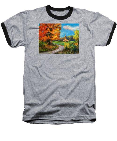 Fall Church Baseball T-Shirt by Jieming Wang