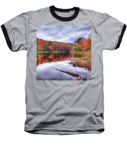 Baseball T-Shirt featuring the photograph Fall Color At The Pond by David Patterson