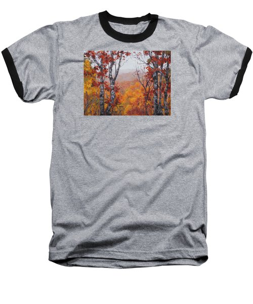 Baseball T-Shirt featuring the painting Fall Color by Karen Ilari