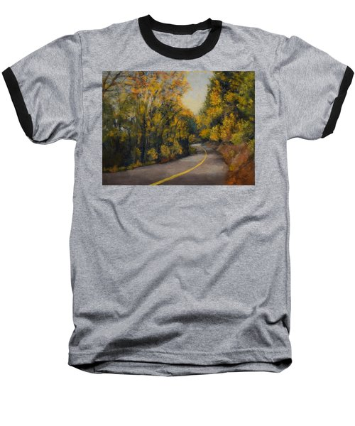 Baseball T-Shirt featuring the painting Fall Color by Nancy Jolley