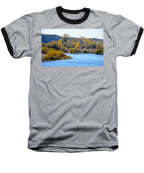 Baseball T-Shirt featuring the photograph Fall Color On The Yuba  by AJ Schibig