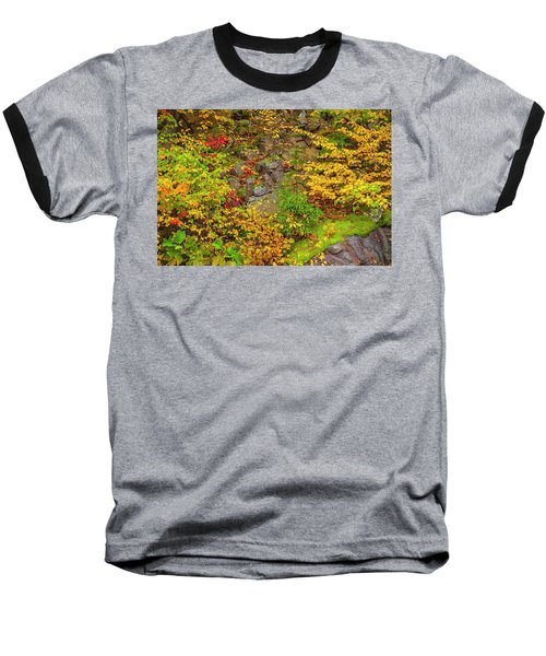 Fall Color Patchwork Baseball T-Shirt