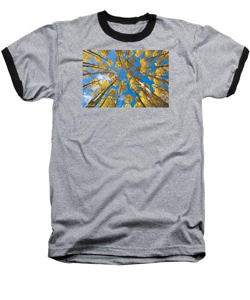 Fall Colored Aspens In The Inner Basin Baseball T-Shirt