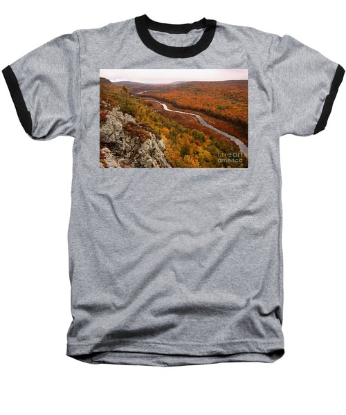 Fall Colors - Lake Of The Clouds Baseball T-Shirt