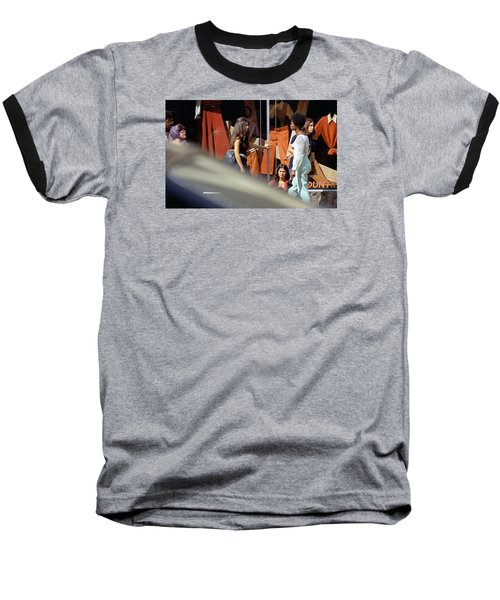 Fall Colors And Bus Riders Baseball T-Shirt