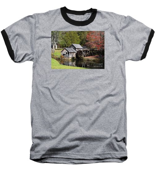 Fall Colors At Mabry Mill Blue Ridge Parkway Baseball T-Shirt by Nature Scapes Fine Art