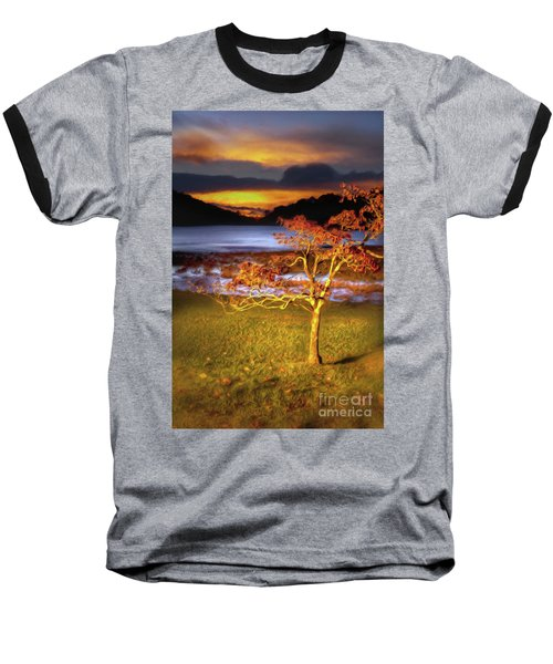 Fall Colors At Sunrise In Otter Blue Ridge Ap Baseball T-Shirt