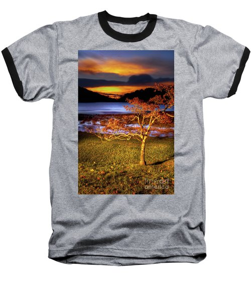 Baseball T-Shirt featuring the photograph Fall Colors At Sunrise In Otter Blue Ridge by Dan Carmichael