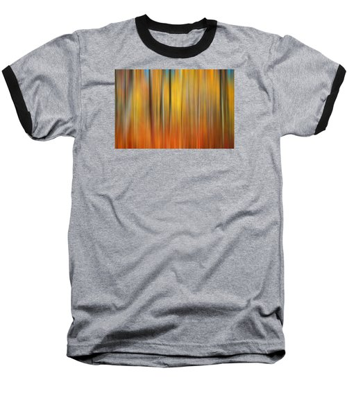 Fall Colors Digital Abstracts Baseball T-Shirt by Rich Franco