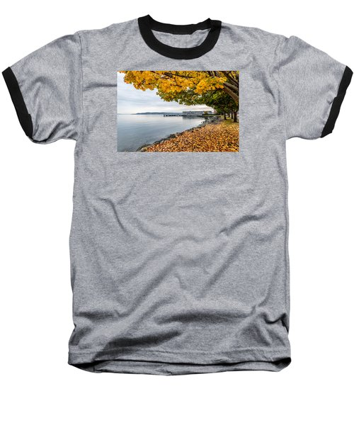 Fall Colors Framing Commencement Bay Baseball T-Shirt by Rob Green