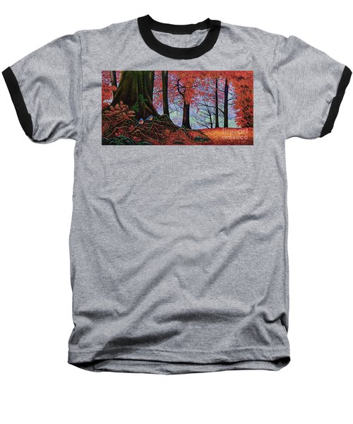 Baseball T-Shirt featuring the painting Fall Colors II by Michael Frank