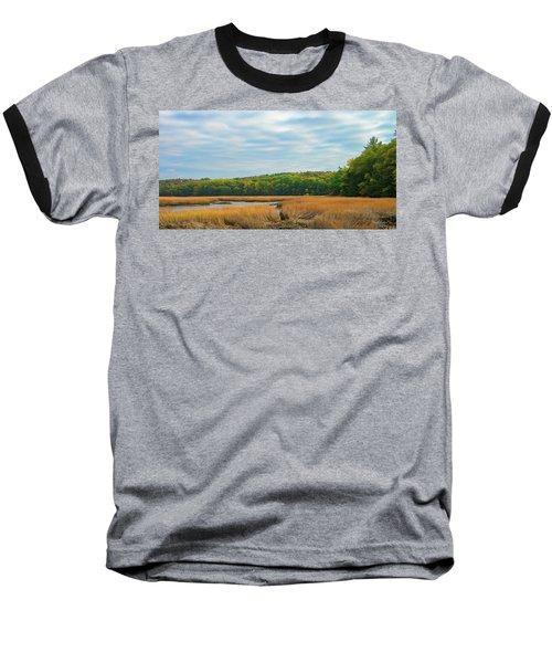 Fall Colors In Edgecomb Baseball T-Shirt