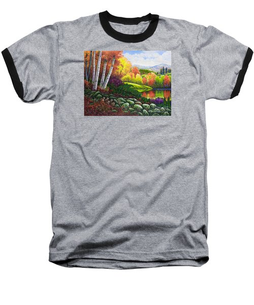 Fall Colors Baseball T-Shirt by Michael Frank