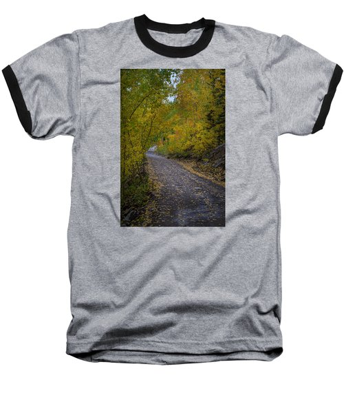 Fall Colors On Engineer Pass Baseball T-Shirt by Michael J Bauer