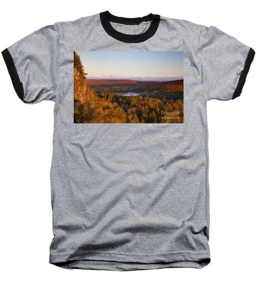 Fall Colors Orberg Mountain North Shore Minnesota Baseball T-Shirt