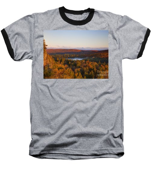 Fall Colors Orberg Mountain North Shore Minnesota Baseball T-Shirt