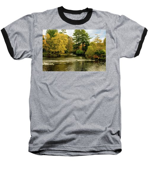 Fall Colour On The River Ness Islands Baseball T-Shirt by Jacqi Elmslie