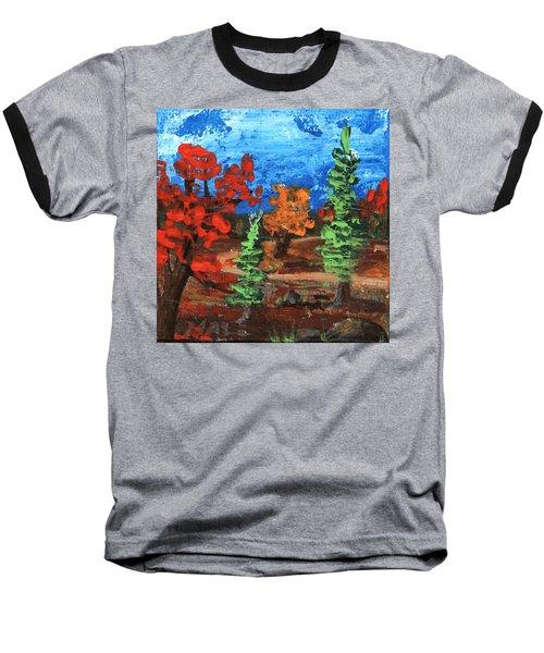 Baseball T-Shirt featuring the painting Fall Colours #1 by Anastasiya Malakhova