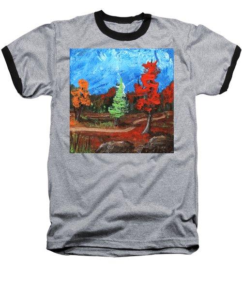 Baseball T-Shirt featuring the painting Fall Colours #2 by Anastasiya Malakhova
