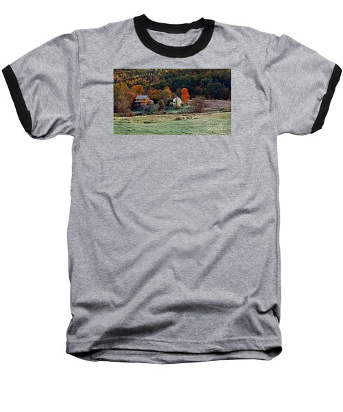 Baseball T-Shirt featuring the photograph Fall Country Side - Vt2015 by Joe Finney