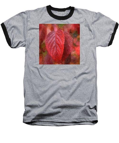 Fall Crimson Baseball T-Shirt by Nick Kloepping