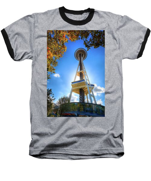 Fall Day At The Space Needle Baseball T-Shirt by David Patterson