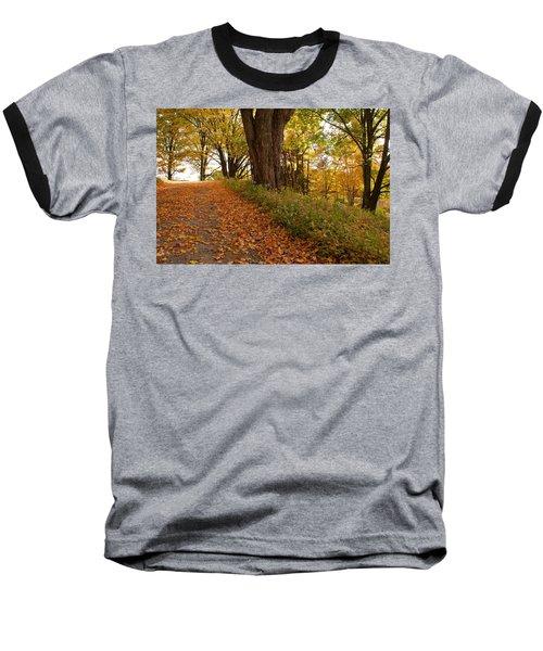 Fall Driveway Baseball T-Shirt by Lois Lepisto