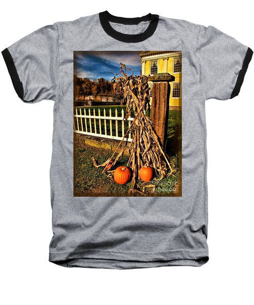 Fall Fence At Hale Farm Baseball T-Shirt by Joan  Minchak