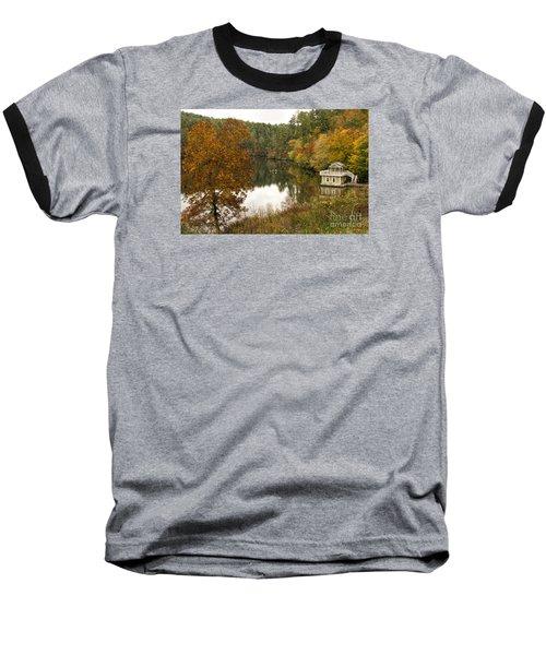 Fall Fishing Baseball T-Shirt by Barbara Bowen