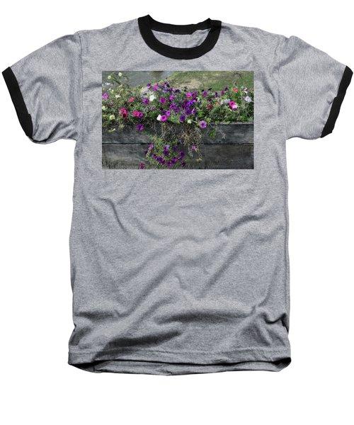 Fall Flower Box Baseball T-Shirt by Joanne Coyle