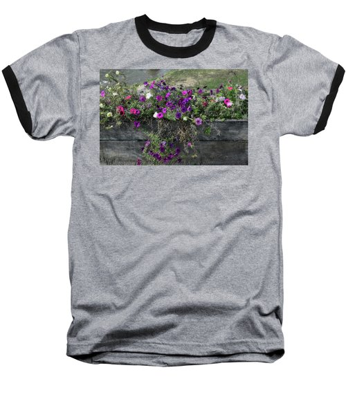 Fall Flower Box Baseball T-Shirt