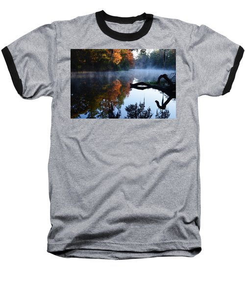 Fall Fog Baseball T-Shirt by Warren Thompson