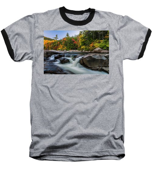 Baseball T-Shirt featuring the photograph Fall Foliage Along Swift River In White Mountains New Hampshire  by Ranjay Mitra