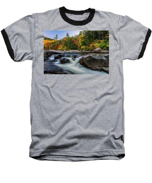 Fall Foliage Along Swift River In White Mountains New Hampshire  Baseball T-Shirt
