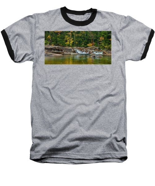 Fall Foliage In Autumn Along Swift River In New Hampshire Baseball T-Shirt by Ranjay Mitra