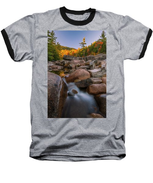 Baseball T-Shirt featuring the photograph Fall Foliage In New Hampshire Swift River by Ranjay Mitra