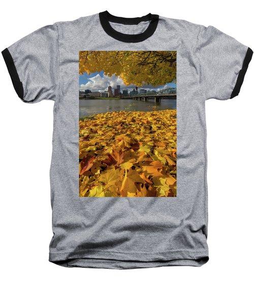 Fall Foliage In Portland Oregon City Baseball T-Shirt