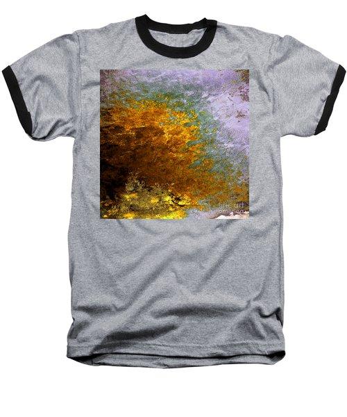 Baseball T-Shirt featuring the digital art Fall Foliage by John Krakora