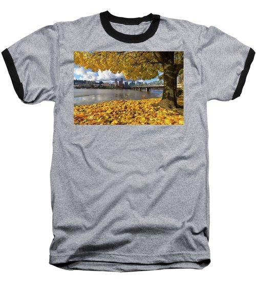 Fall Foliage With Portland Oregon City Baseball T-Shirt